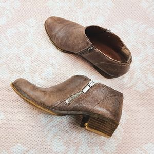 Lucky Brand Brown Leather Ankle Booties Size 7½